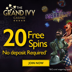 the grand ivy casino bonus